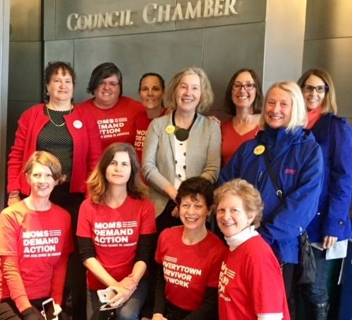 Grandmothers join with  Moms Demand Action - WA  at Seattle City Council to support safe gun storage