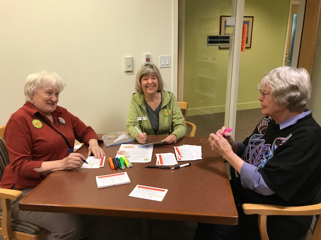 Horizon House members contributing to the I-1639 postcard campaign