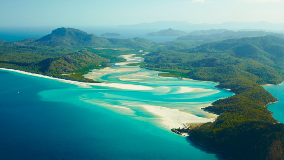 Lifes a b**ch in paradise isn't it?, Whitehaven Beach and Whitsunday Island from Above
