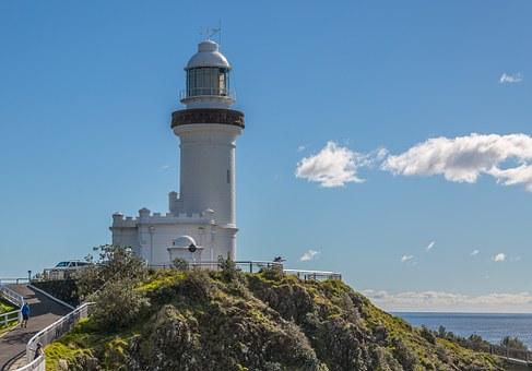 Byron Bay lighthouse- not a lonely spot.