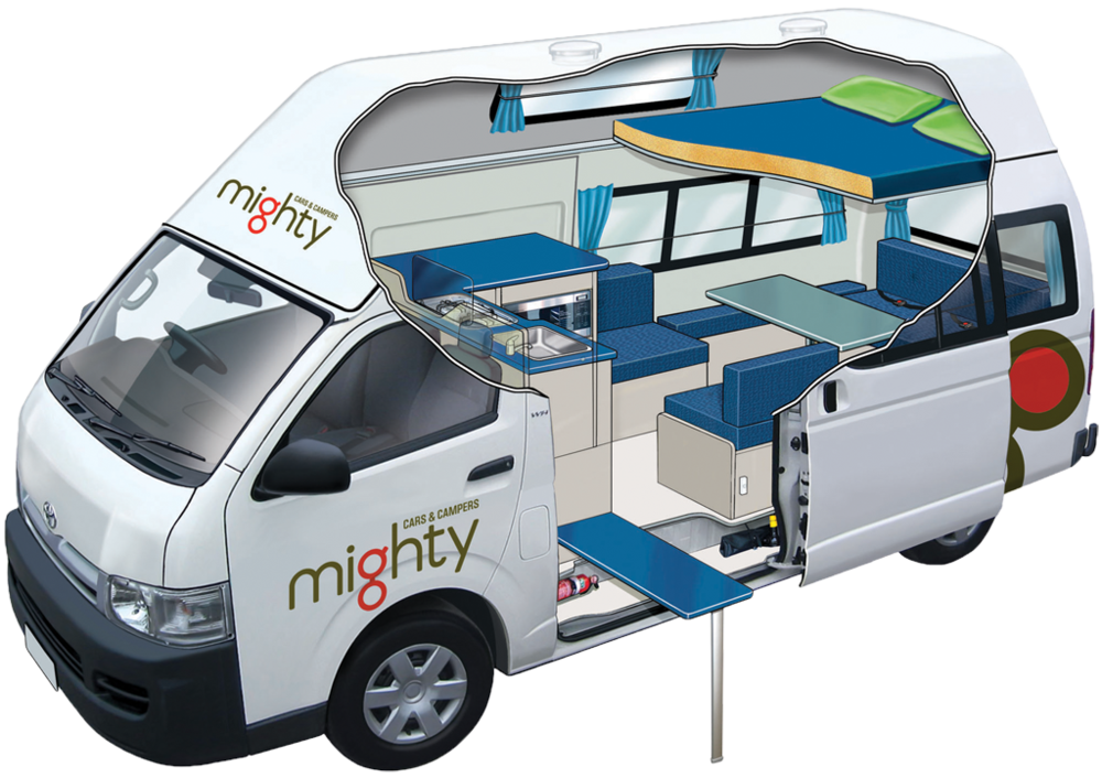 Mighty Car and Campers - Mighty Cars and Campers are upscale- they're very good quality, spacious, and are what you'd get if you want to impress a special someone. This reflects the price of course, but you do get what you pay for. They offer campers of all shapes and sizes, and the price varies from relatively normal to astronomically expensive. Click through to get a quote, or request a comparison quote.