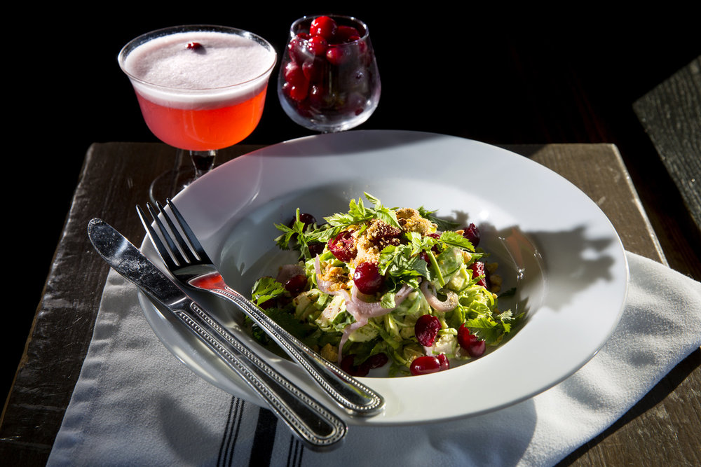 Brussels Sprout and Cranberry Salad at Pickled Fish
