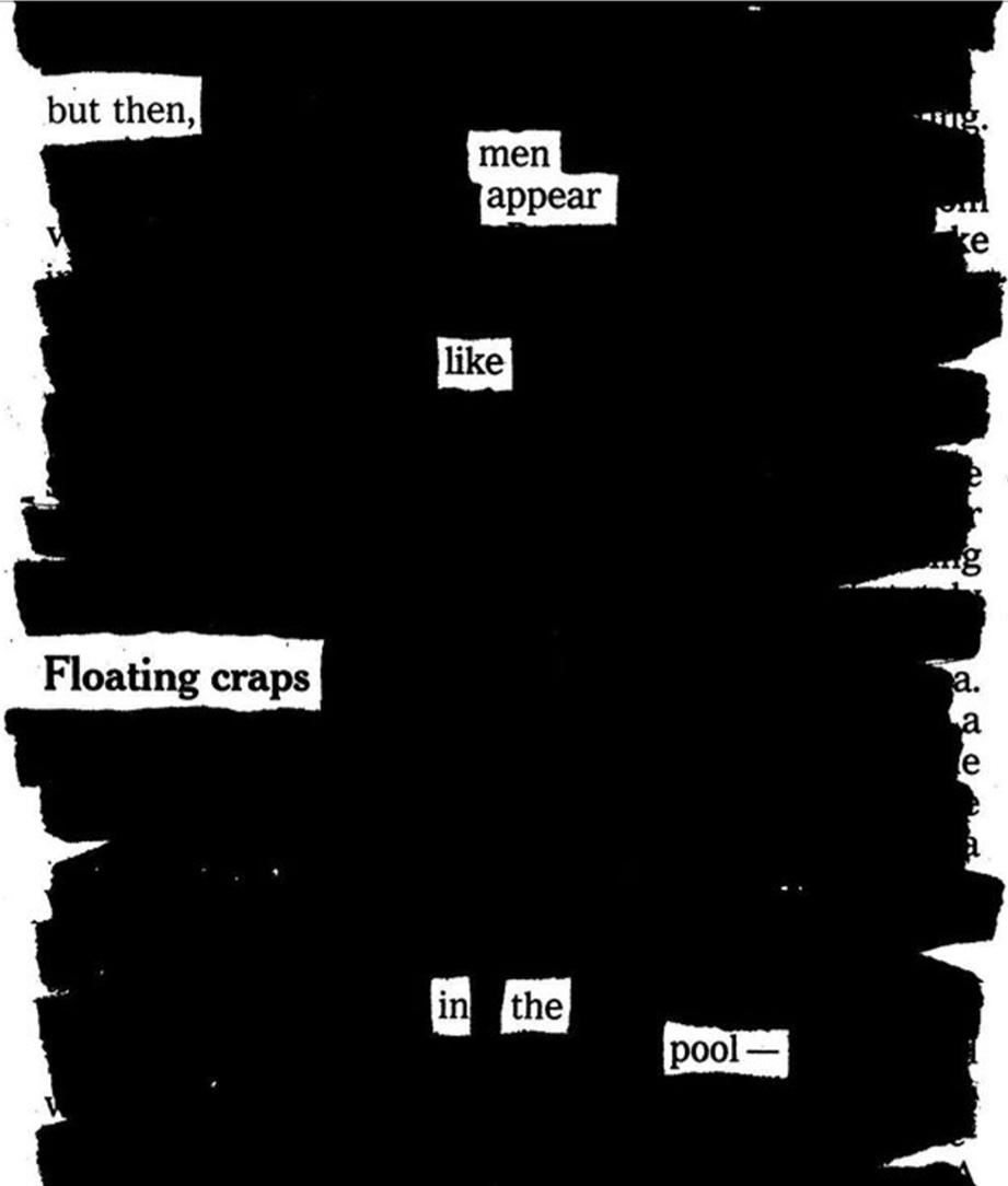 Newspaper blackout poem by Austin Kleon
