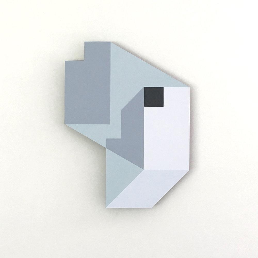 Iceberg A-38, original shaped painting by Amanda Wilkinson