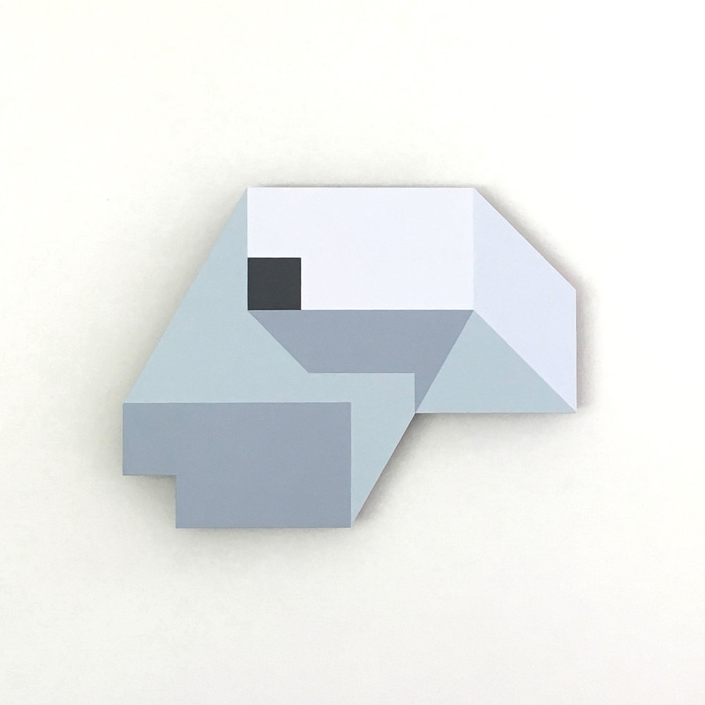 Iceberg B-9, original shaped painting by Amanda Wilkinson