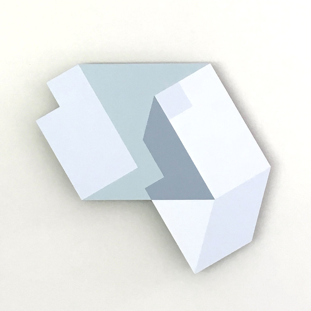 Iceberg B-31, original shaped painting by Amanda Wilkinson