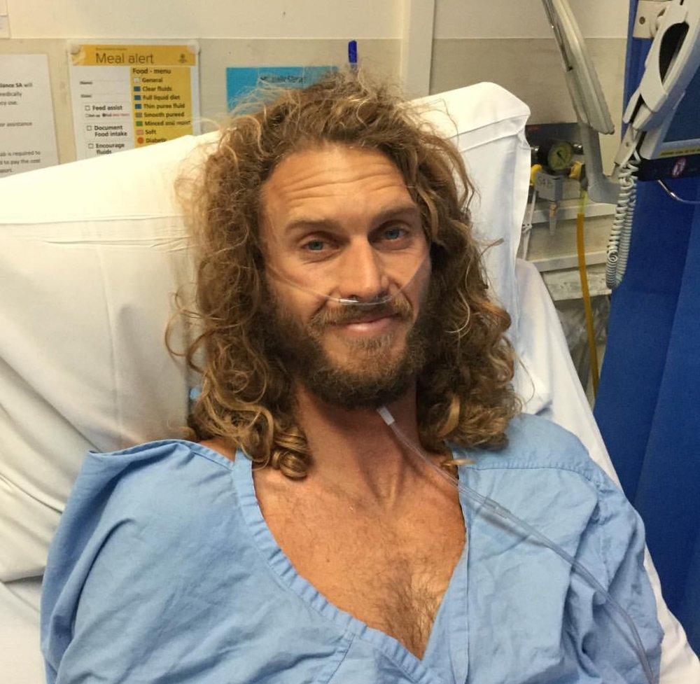 Nick Ormerod in Hospital