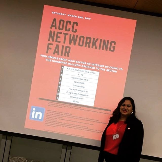 Don't forget the Networking Fair in Gutman Conference Center starting NOW and continuing until 4:30! #AOCC2019 #network #hgse #learntochangetheworld 