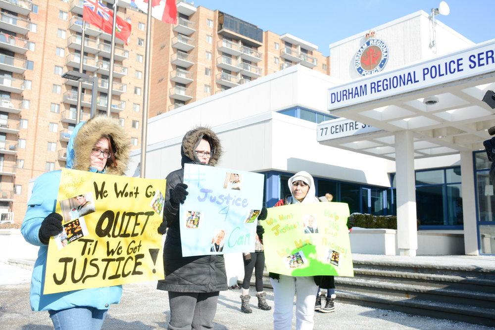 Protestors call for new probe into Cameron Bailie case  -