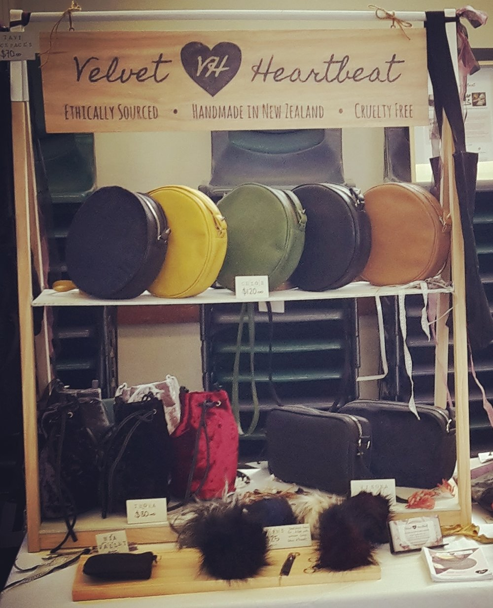 velvet heartbeat market stall