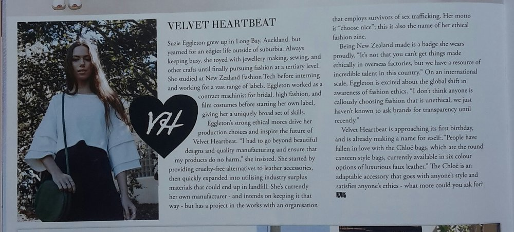 Apparel Magazine August 2018 Velvet Heartbeat