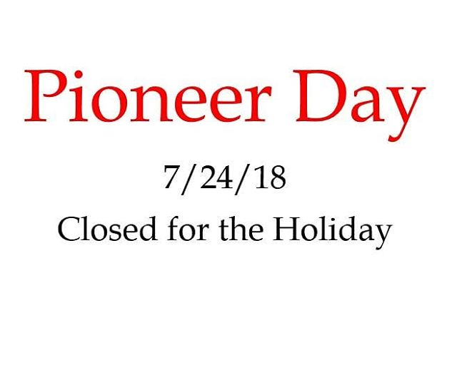 Tribal West will be closed tomorrow as we celebrate Utah's history and heritage. Happy Pioneer Day!!💥