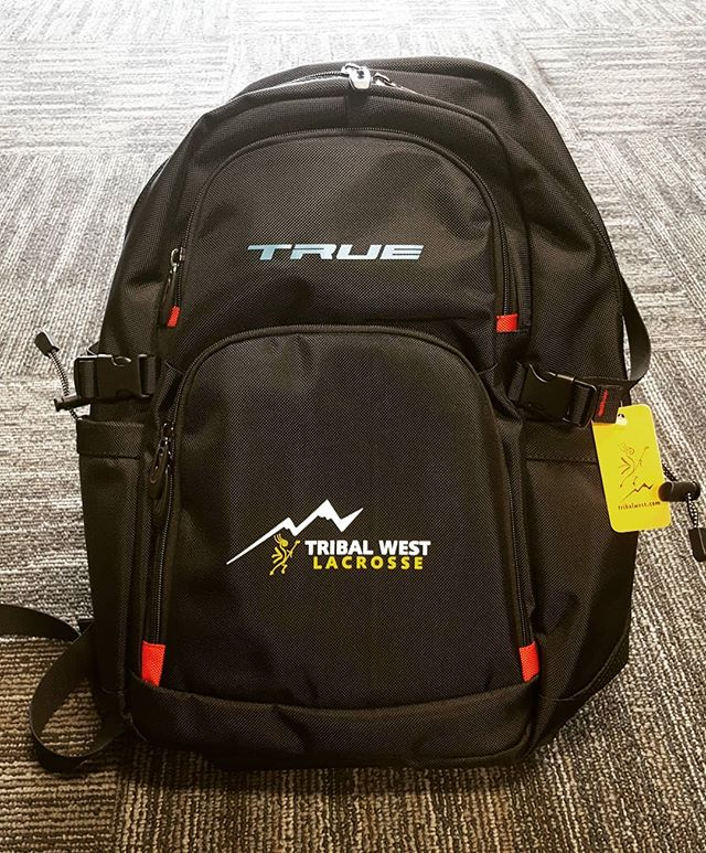 Just in time for back to school shopping! @playtruelax and #tribalwest backpacks are in stock! Separate pockets designed for laptop, books and personal items as well as pouches for two water bottles and straps for your lacrosse stick! Come in to the shop and get yours today!