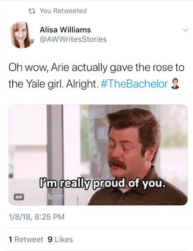 Arie giving the rose to a yale girl.png