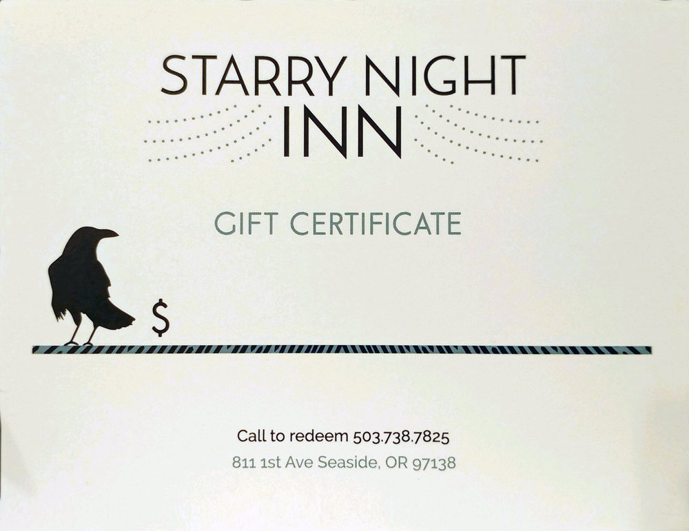 We can add the dollar amount of your choosing. Call today and we can send this gift certificate in time for Christmas.