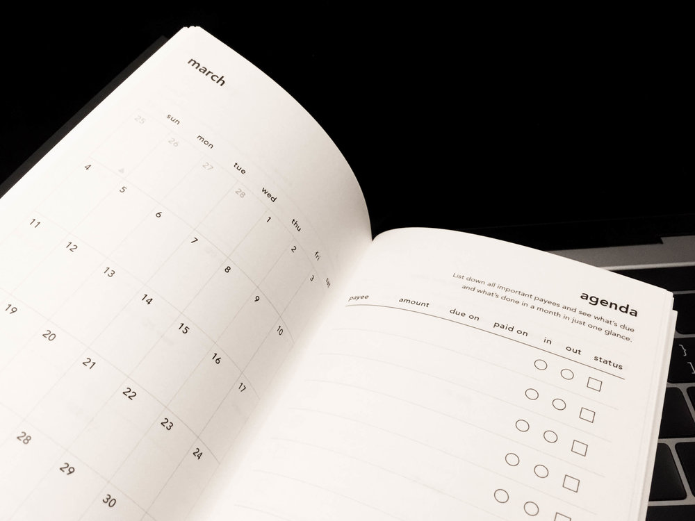 Calendar view & Agenda spread