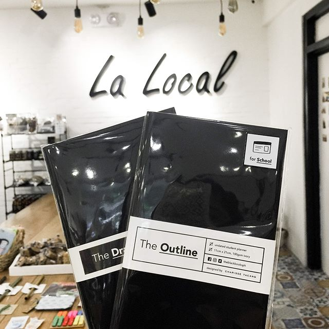 In case you didn't know: we're in @lalocal.ph! Our shelf is stocked with all our existing products, including the last few copies of #TheLedger 2018! We also have a few more copies of #TheOutline (undated student planner) available there. Drop by if you're in the area! #designingproductivity  #theblackbooks #theblackbooksph #planner #plannerph #plannersph #plannersmnl #lalocalph #students #studentplanner #undatedplanner #schoolplanner #billsplanner #thephplanningsociety #plannercommunityph #design #productivity