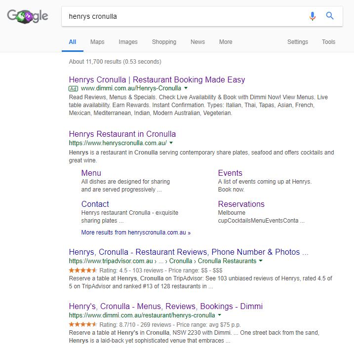 brandjacking - google SERPS