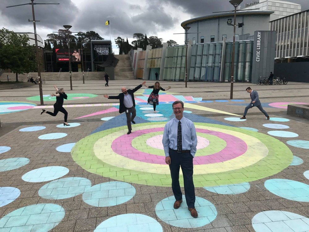 We Dance Together Installation | Civic Square | 2017 | Gordon Ramsey MLA & Staff