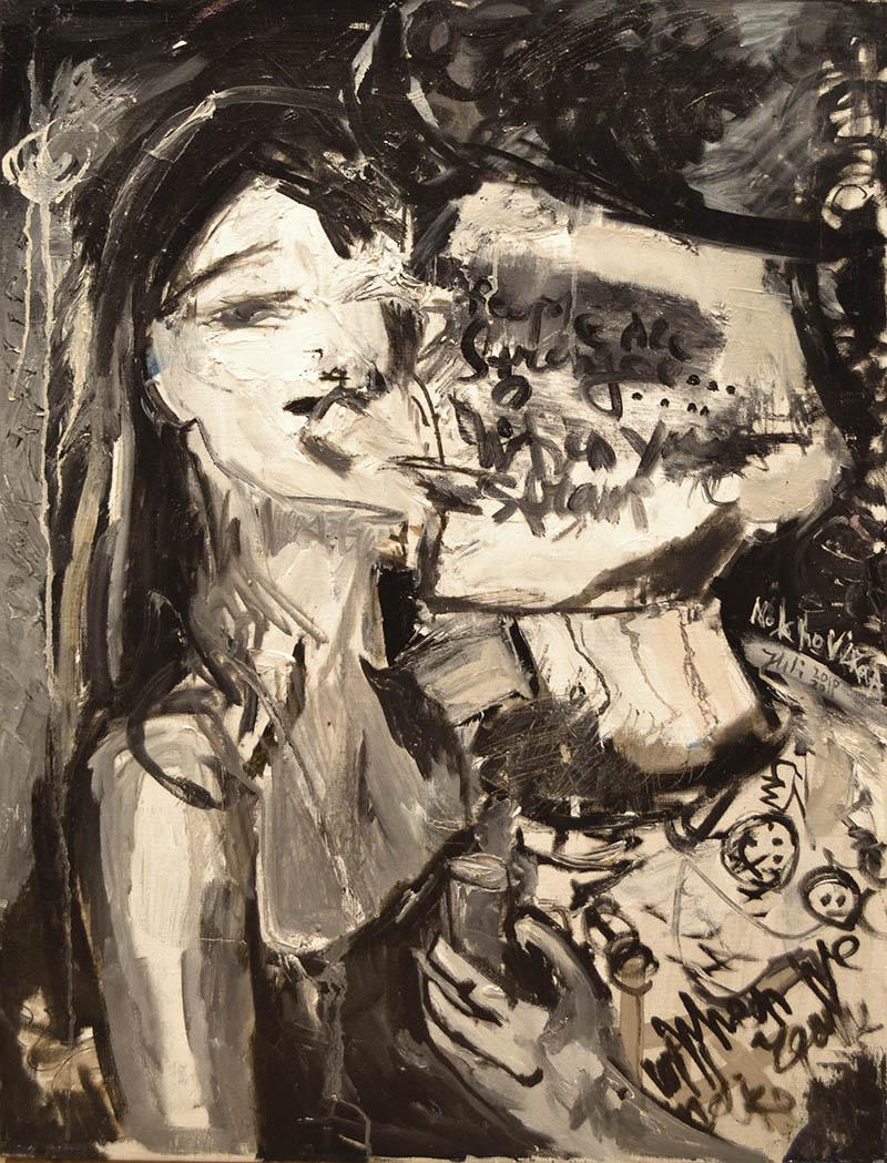 kate & j canvas, oil 80x60cm, 2010