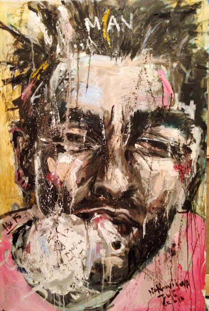 he canvas, oil 110x80cm, 2013