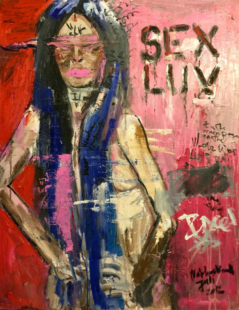 sex luv canvas, oil 90x70cm, 2013