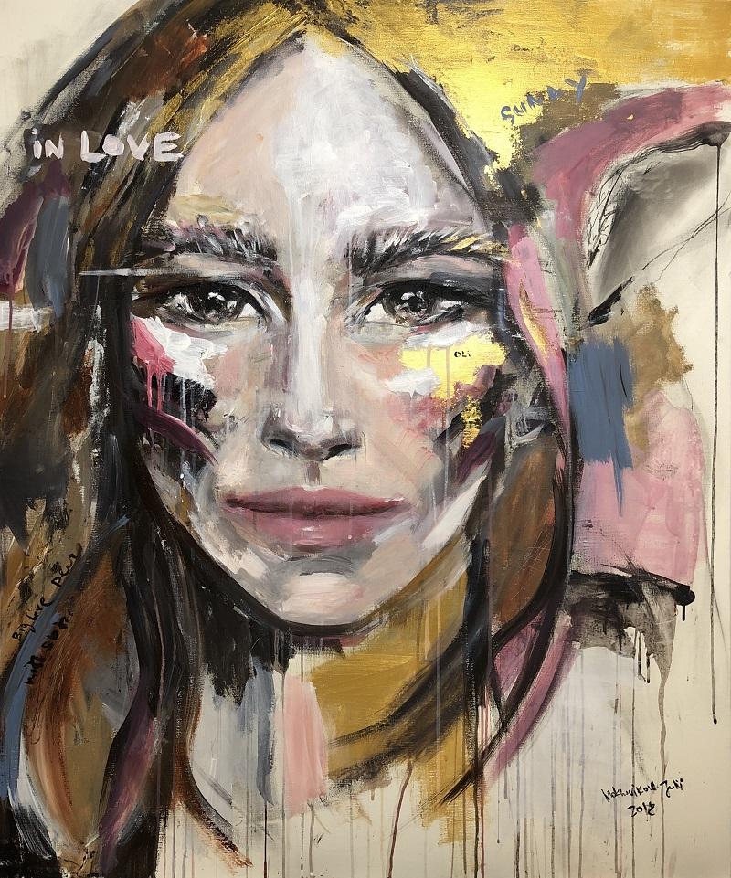 olenka / canvas, acrylic / 110x110cm / 2018