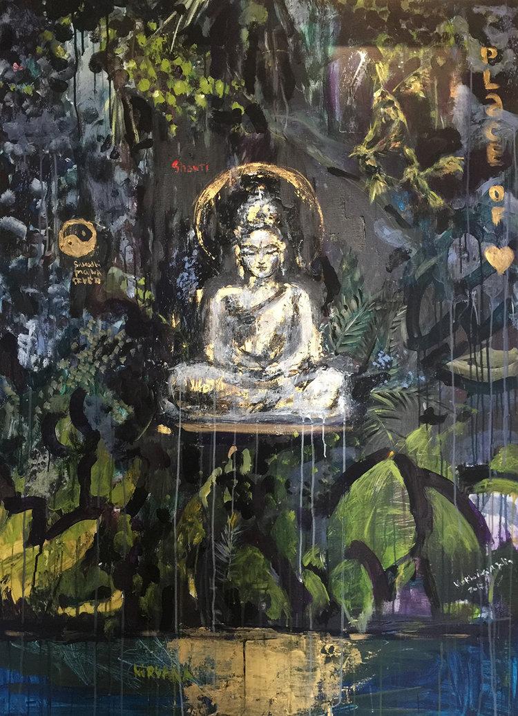 shanti place / canvas, acrylic / 110x50cm / 2017