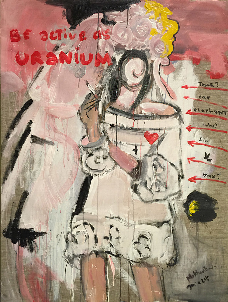 be active as uranium canvas, acrylic 120x90cm, 2016