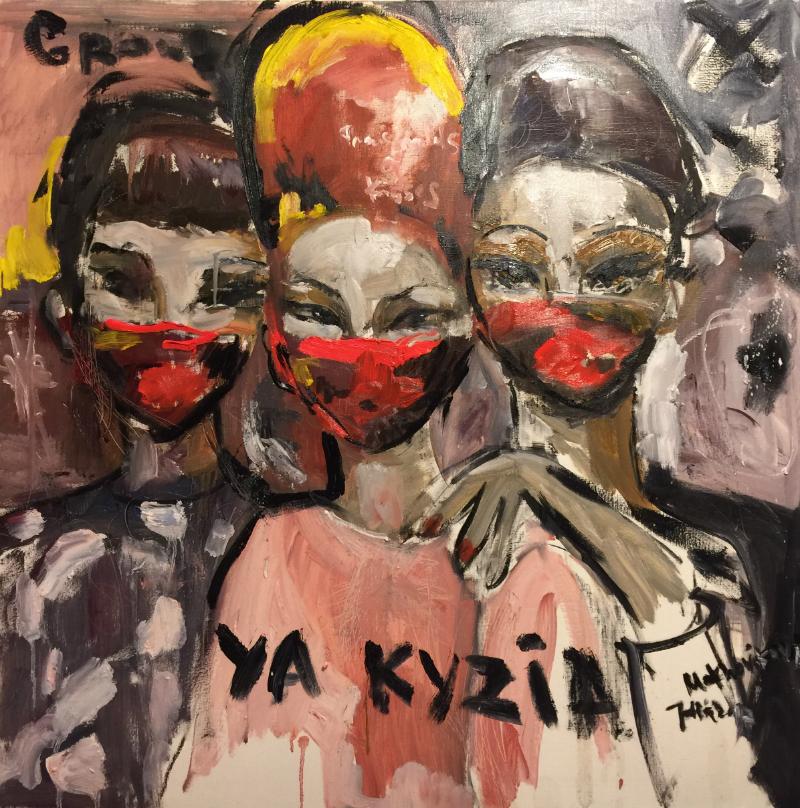 yaakuza canvas, oil 100x100cm, 2017