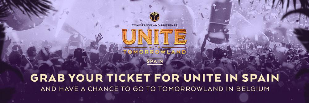 Hazte con tu entrada para UNITE Barcelona y podrás ser uno de los afortunados para ir a Tomorrowland Bélgica