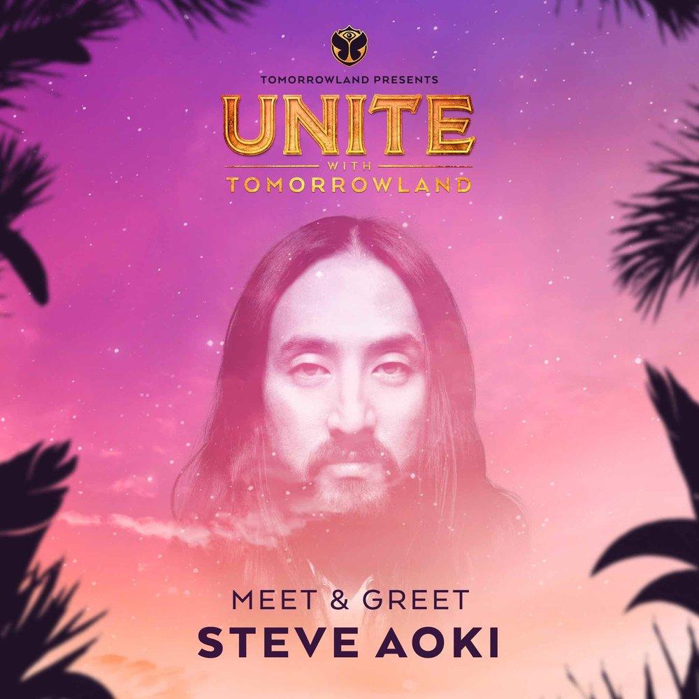 Meet & Greet con Steve Aoki - Si quieres conocer a Steve Aoki, puedes participar accediendo a sus redes sociales. Haz click para llegar a sus posts y sigue las instrucciones:- Tweet en Twitter.
