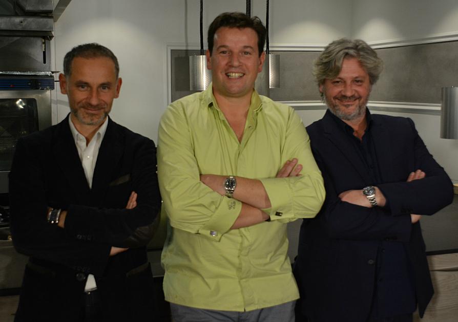 Damien Hubert (CEO), Pascal Favre d'Anne, Sébastien Ripari (Gastronomic Concept Director)