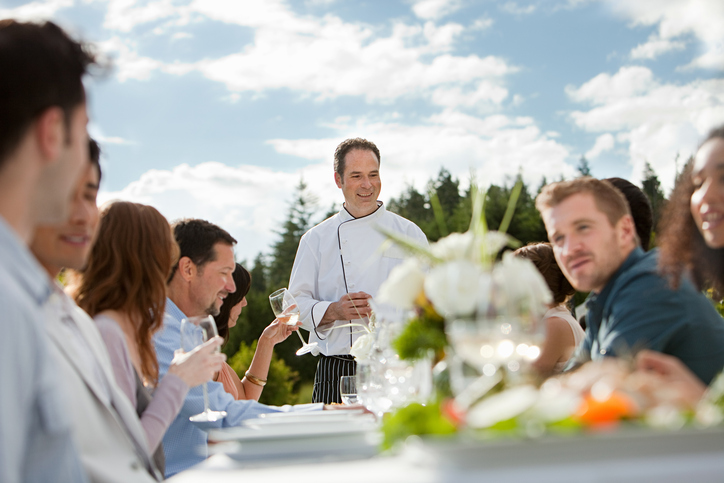 A unique moment spent with a famous starred chef in a convivial setting of your choice indoor or outdoor.