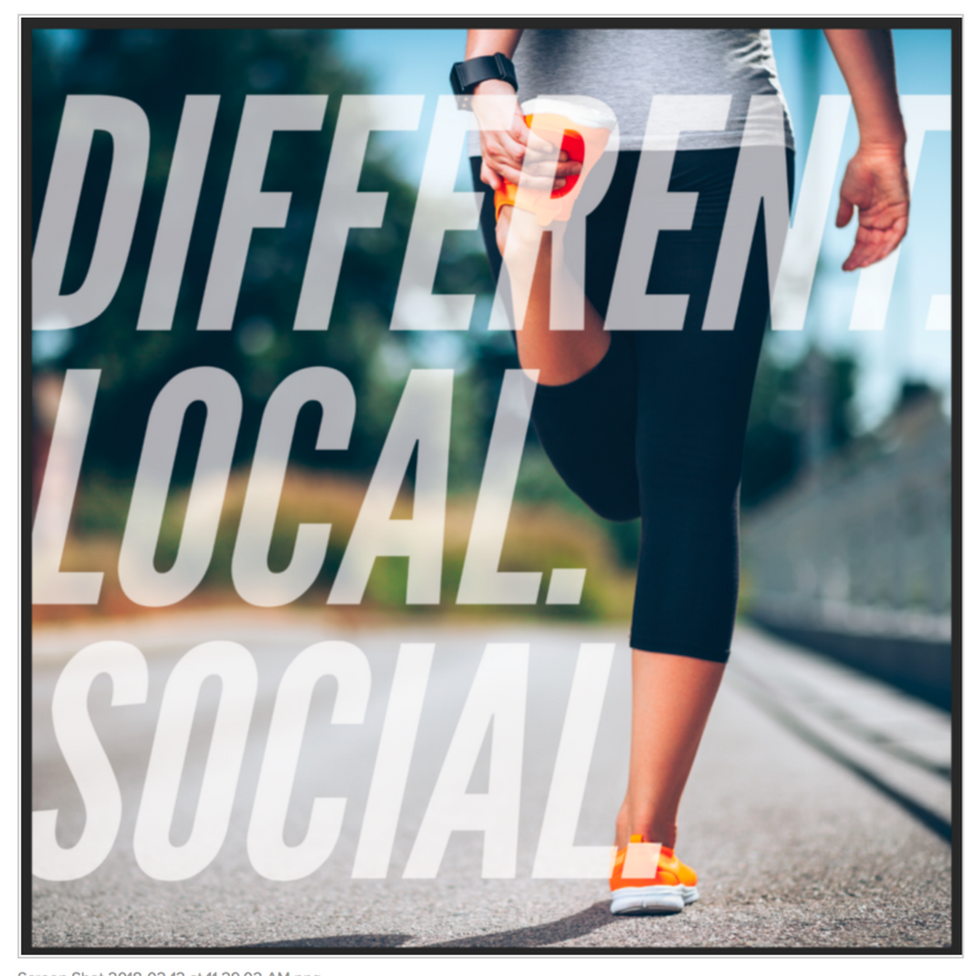 Different. Local. Social.