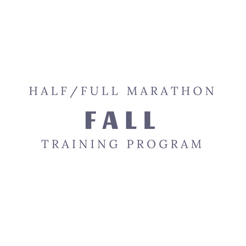 Fall Marathon Training Program
