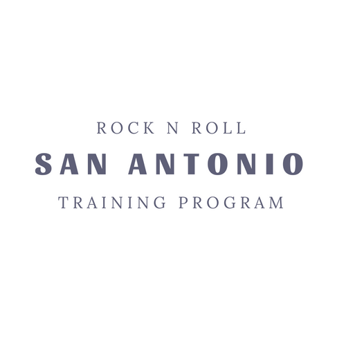 Rock n Roll San Antonio Marathon Training Program