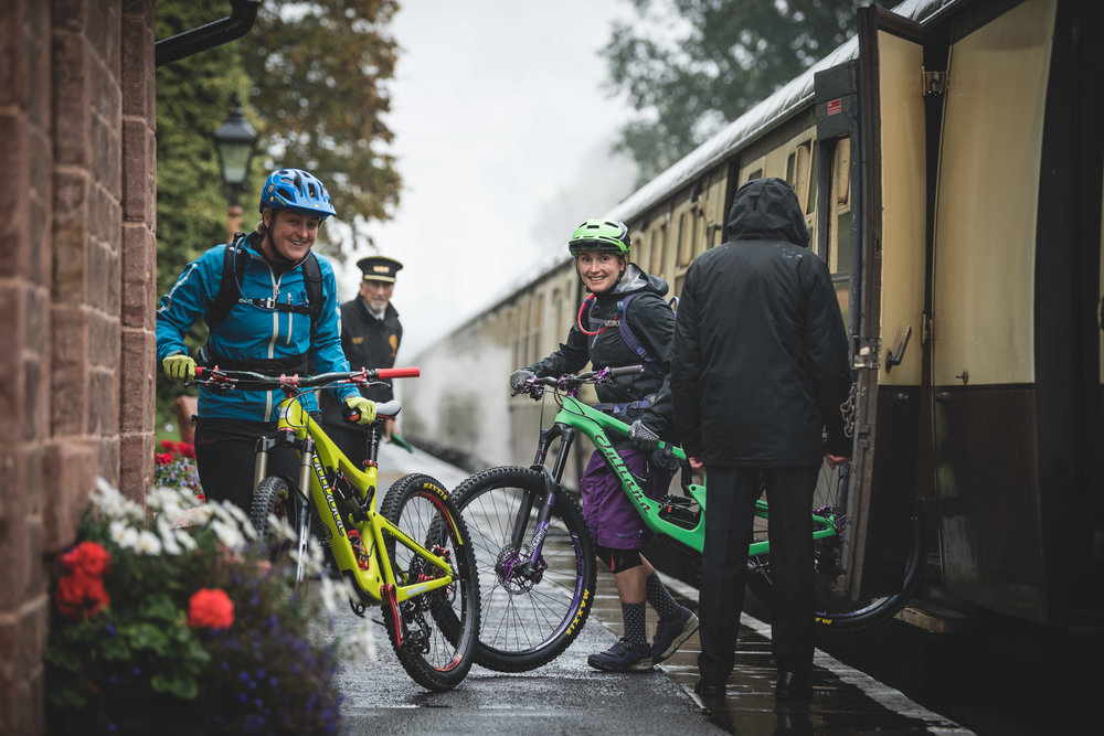 Steam trains and Juliana Bicycles