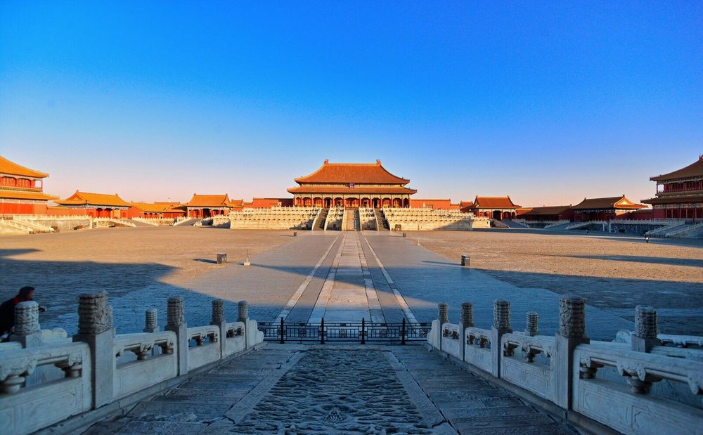 The Forbidden City at dawn
