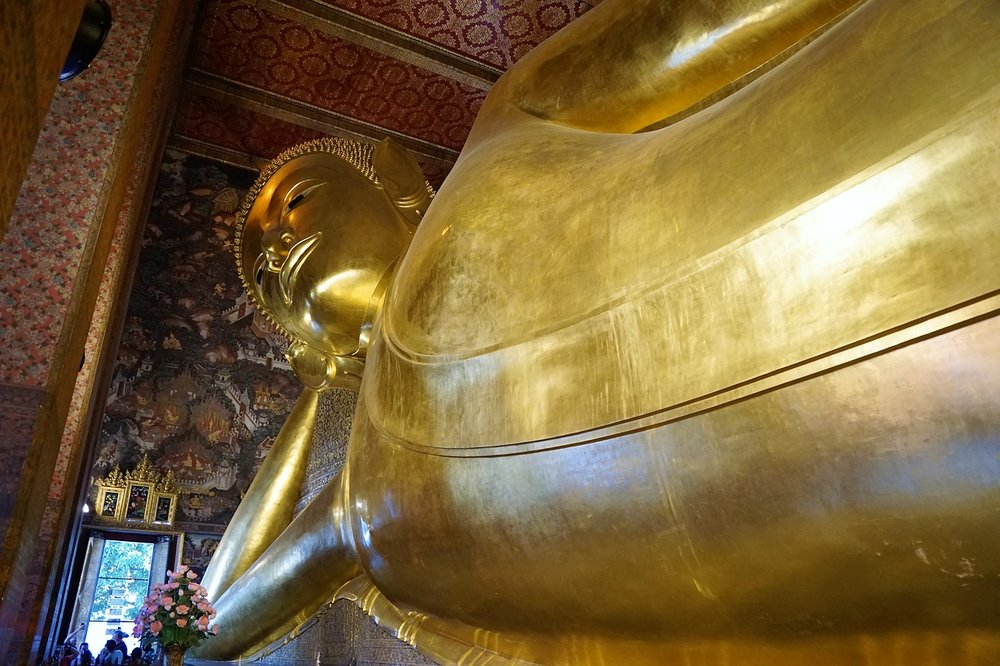 Wat Pho status of Golden Buddha Bangkok