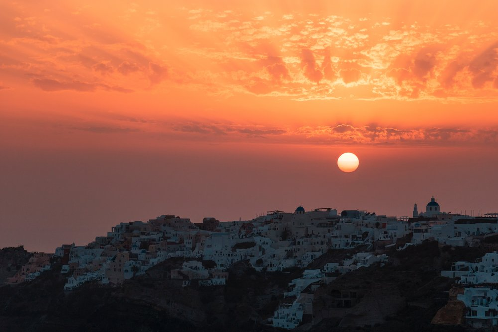 Sunset from Ammoudi Bay
