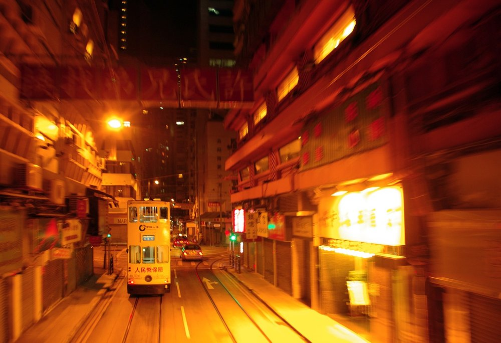 Ride a double-decker tram in Hong Kong