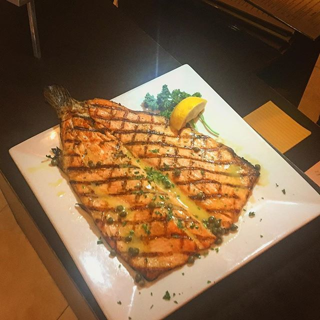 There's regular red trout and then there's Rafina's red trout. The choice is yours.. #greekfood #summer #yelp #rafinagreektaverna #rafina #deezgreeks #trout