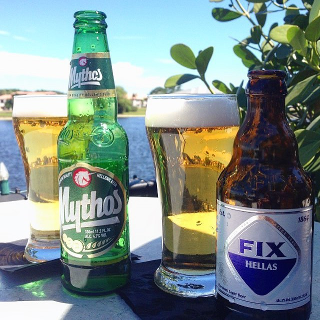 Happy national beer day everyone !! Come enjoy a cold one on the deck tonight. #bocaraton #rafina #rafinagreektaverna #deezgreeks #beerday #beer #mythos #greekfood #yelp #sofla