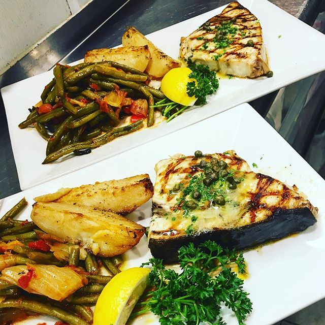 Swordfish special coming back this weekend. Get that seat on the deck and enjoy some. #sofla #yelp #rafina #rafinagreektaverna #greekfood #swordfish #deezgreeks #bocaraton