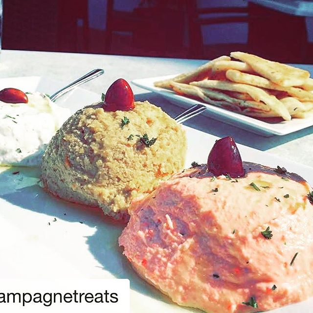 The triple dip app is calling you. #bocaraton #greekfood #greeklife #deezgreeks #rafinagreektaverna #delicious #rafina #yelp #sofla