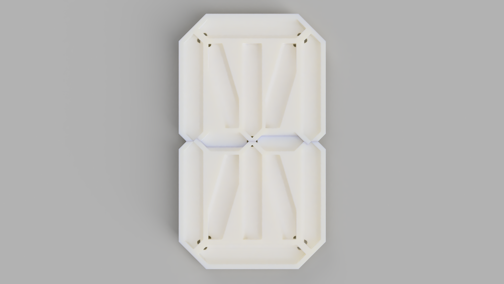 Front render of the front baffle.