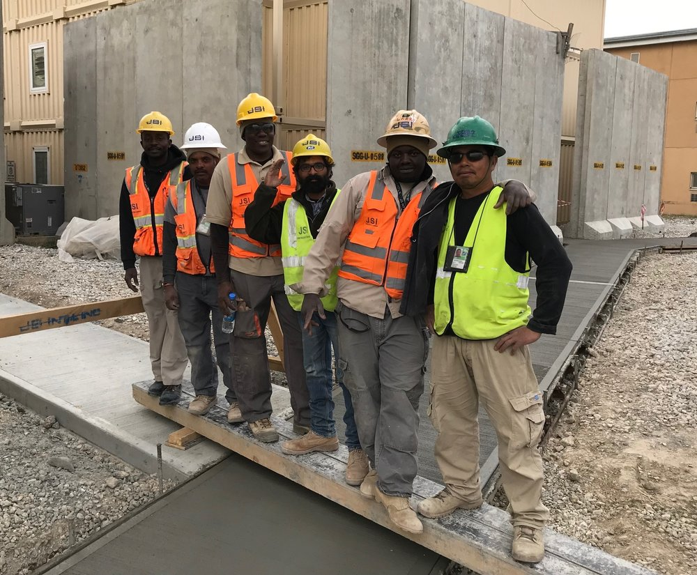 - BAF team with another successfully completed concrete project
