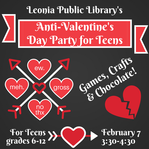 Anti Valentine S Day Party Leonia Public Library In Bergen County