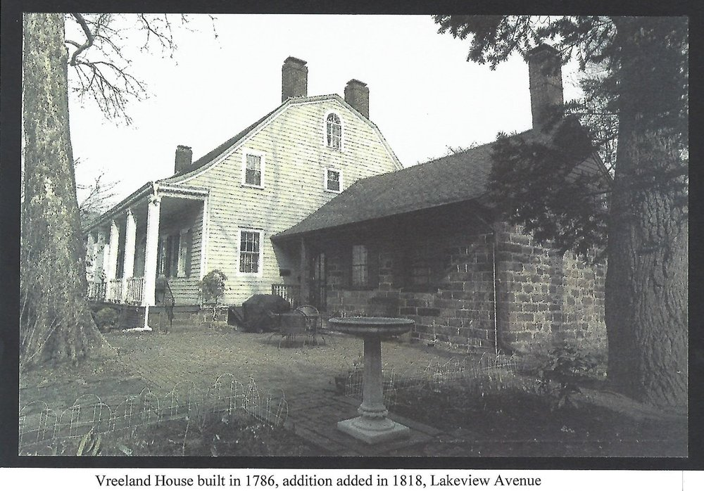 Vreeland House built in 1786, addition added in 1818, Lakeview Avenue